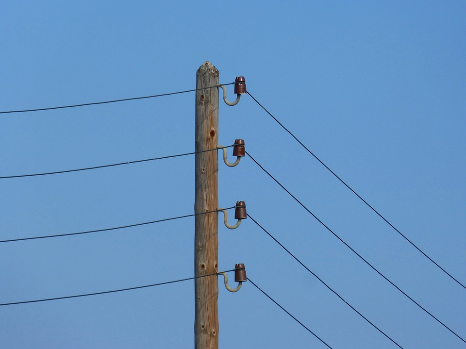 Установка электростолба